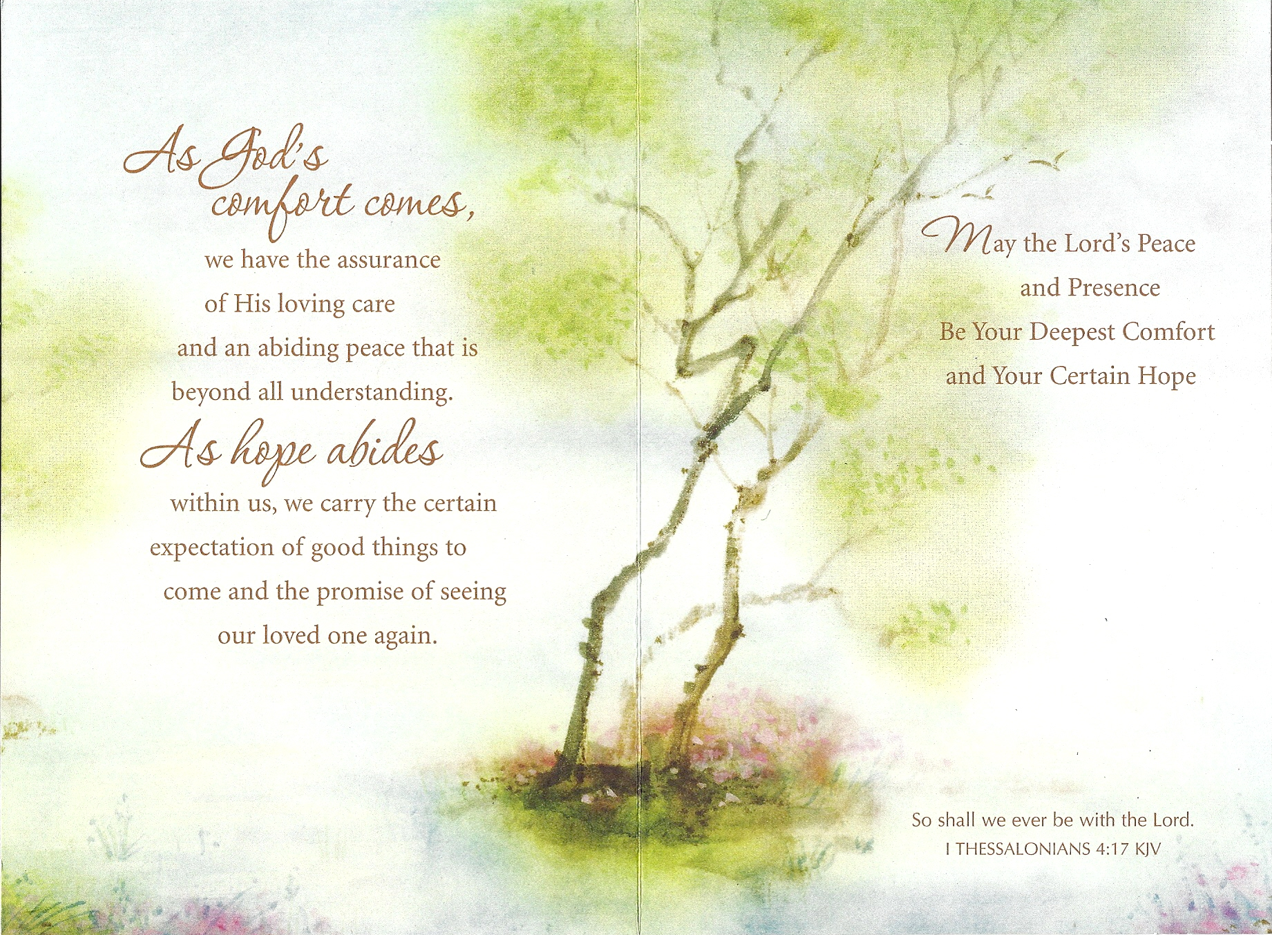 Inside Sympathy card