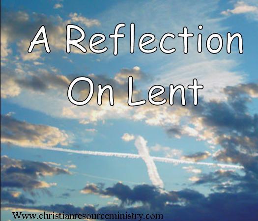reflection on lent