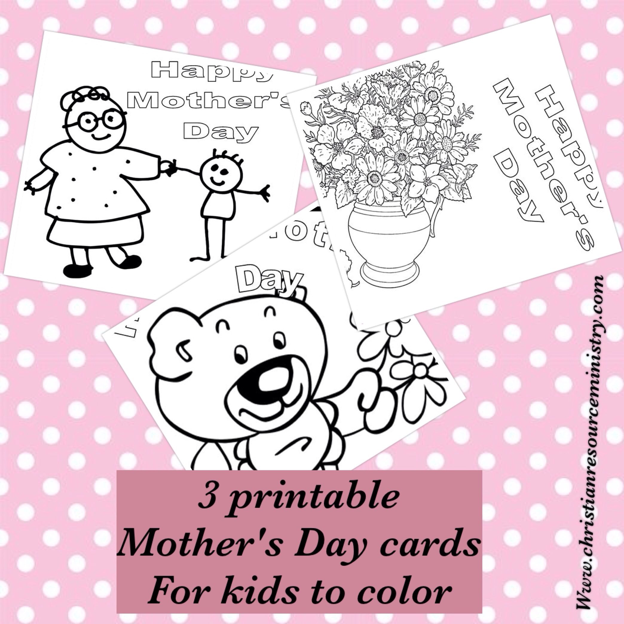 Printable Mother's Day Cards For Kids