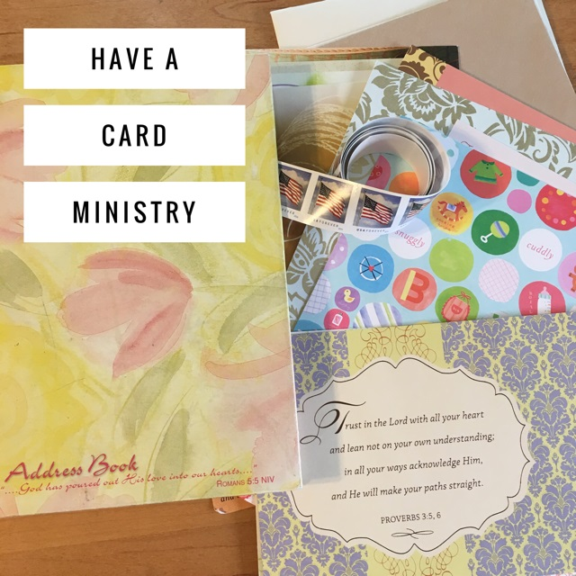 how to start a card ministry