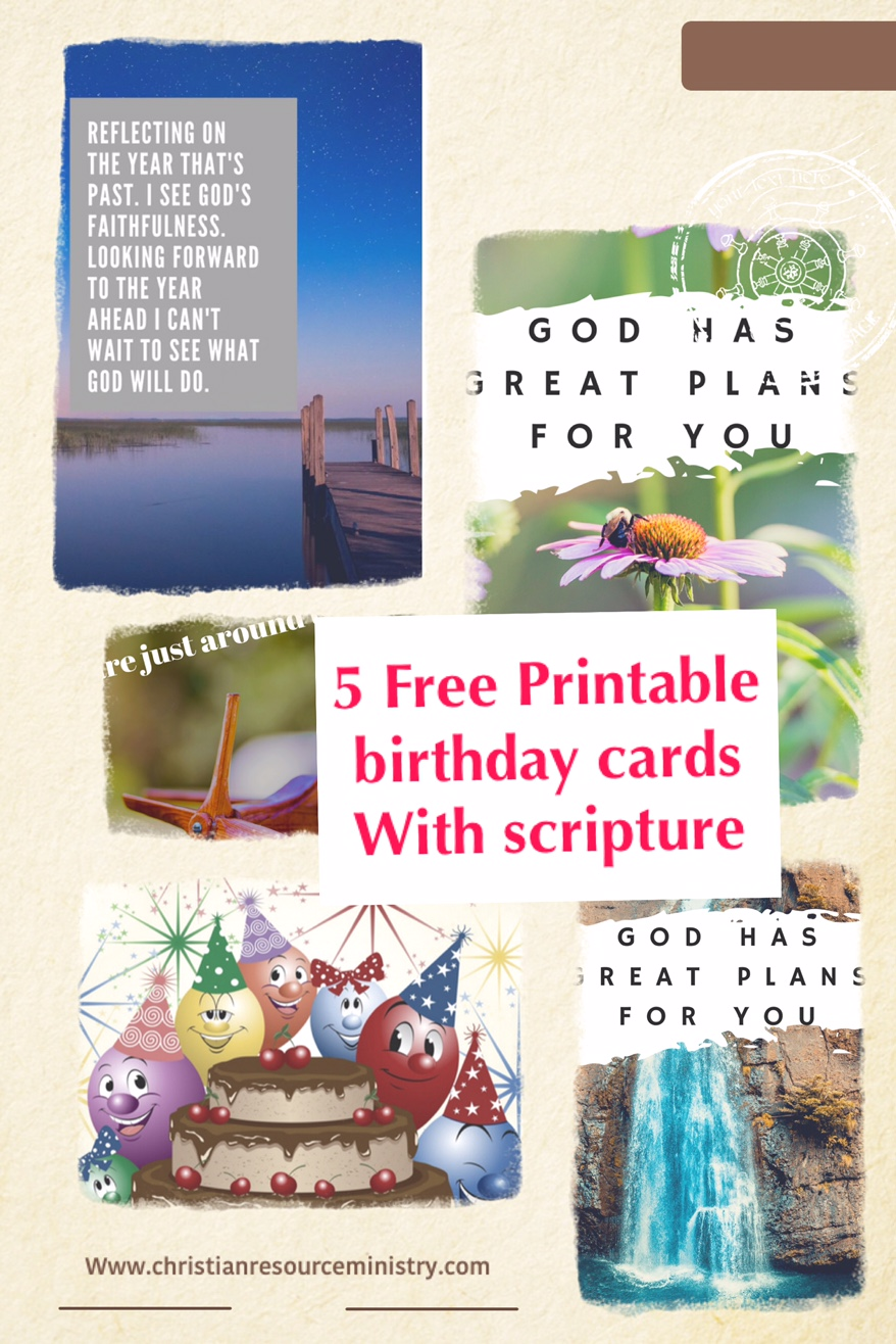 5 Free Printable Christian Birthday Cards
