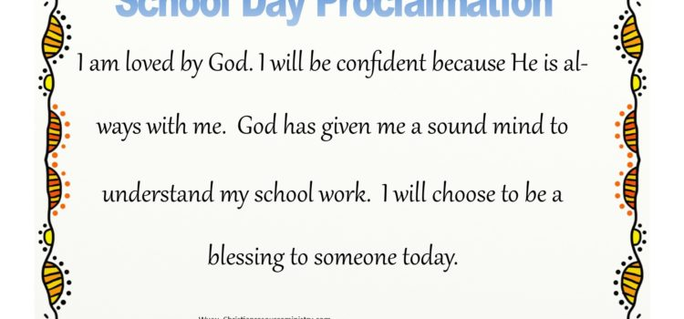 60 Second School Day Proclamation for Elementary Kids