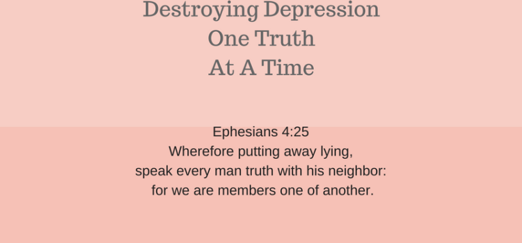 Transparency. Destroying Depression One Truth At a Time.
